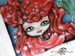 """ARIEL"" Acrylics on paper"